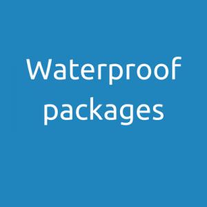Waterproof radio packages
