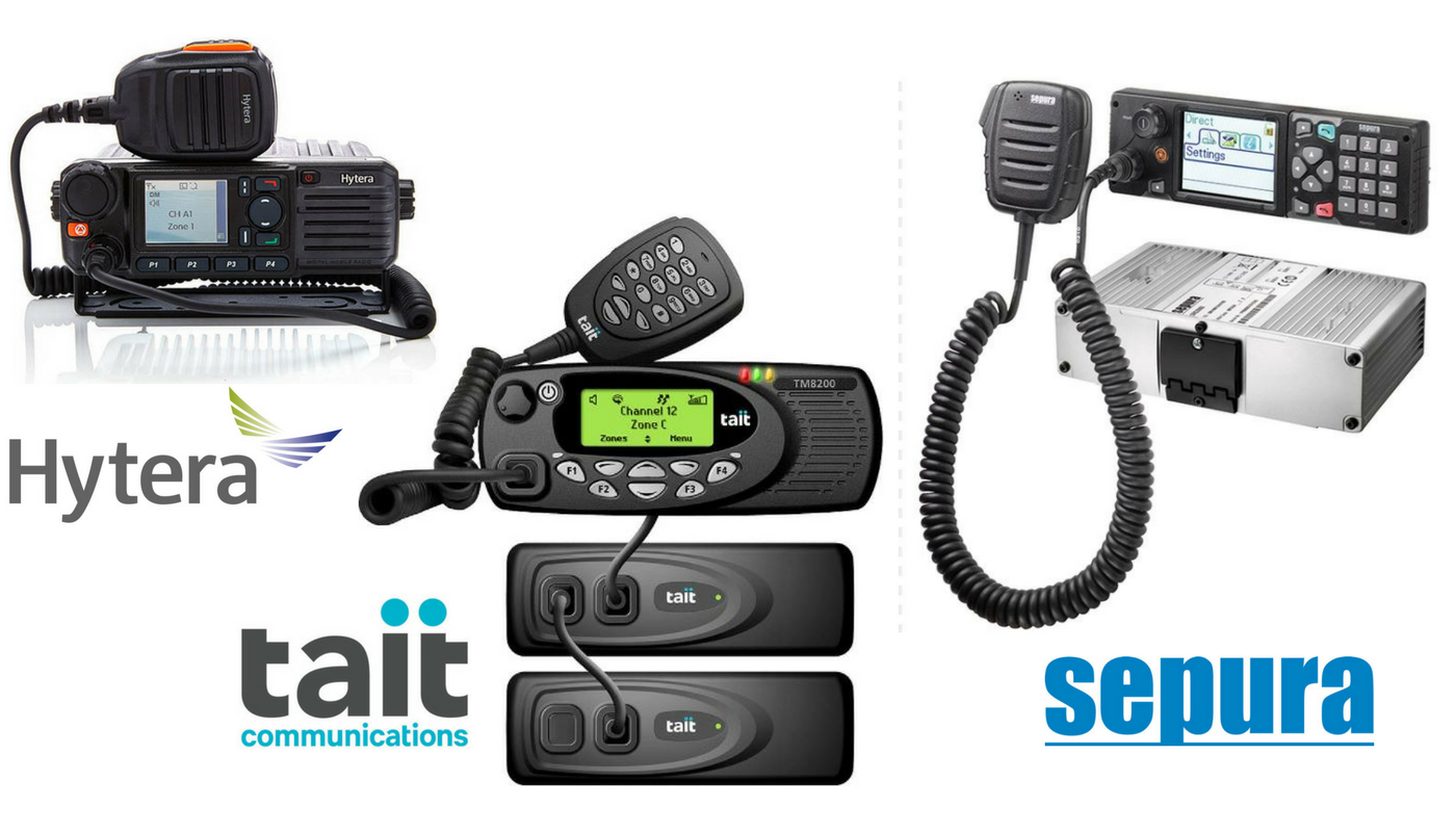 Two way mobile radio range - Hytera, Tait and Sepura