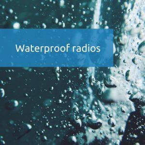 Waterproof radio
