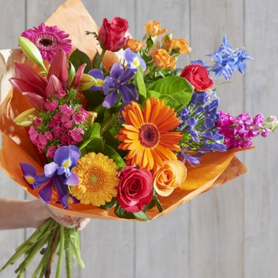 Kaleidoscope bouquet Next - win flowers in time for Valentines Day